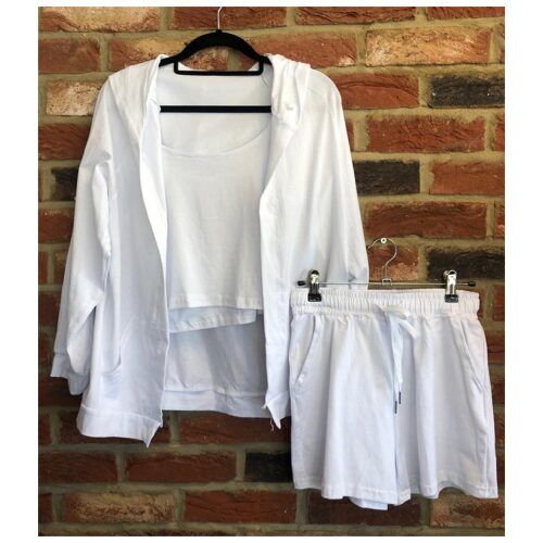 White Trio Short Set