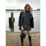 Black Polka Dot Frill Dress