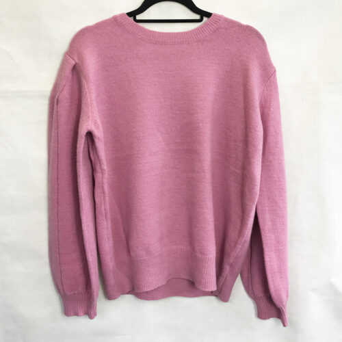 Pink Chain Back Oversized Jumper