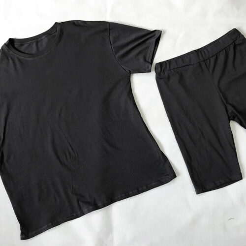 Dark Grey Cycling Short Set