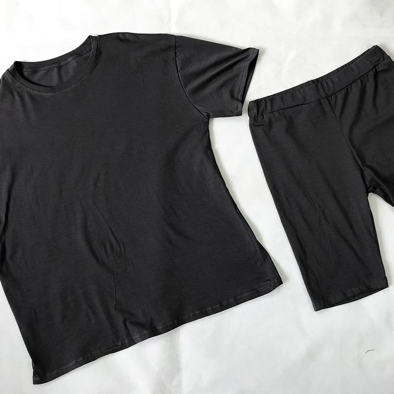 Dark Grey Cycling Short Set