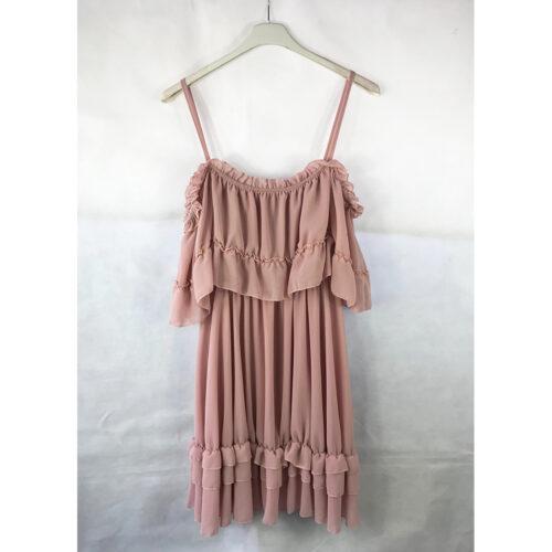 Pink Frill Ra Ra Dress
