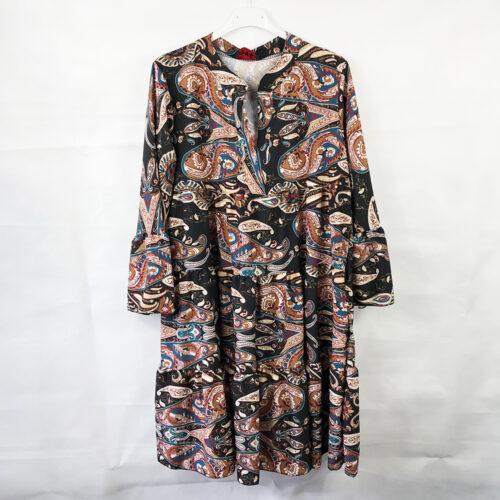 Paisley Print Smock Dress