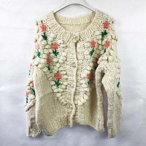 Pearl Detailing Floral Cardigan