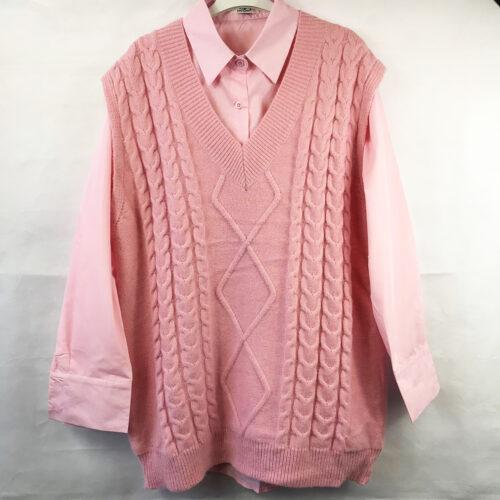 Pink Shirt and Tank Top Set