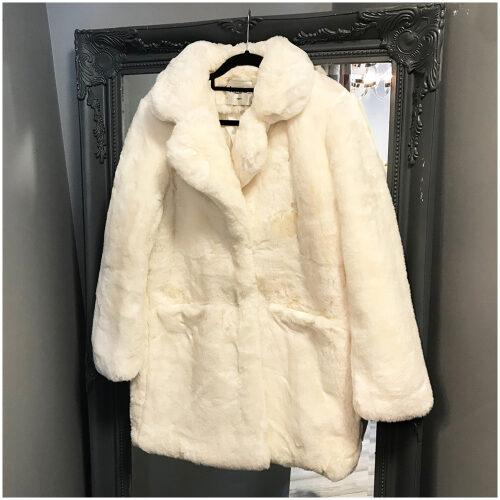 Faux Fur Coat in White