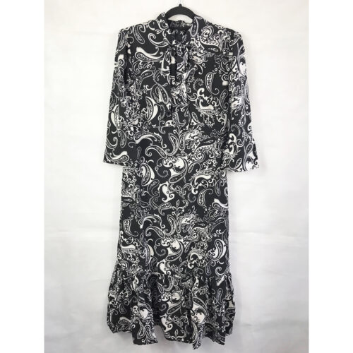 Paisley Pussybow Midi Dress