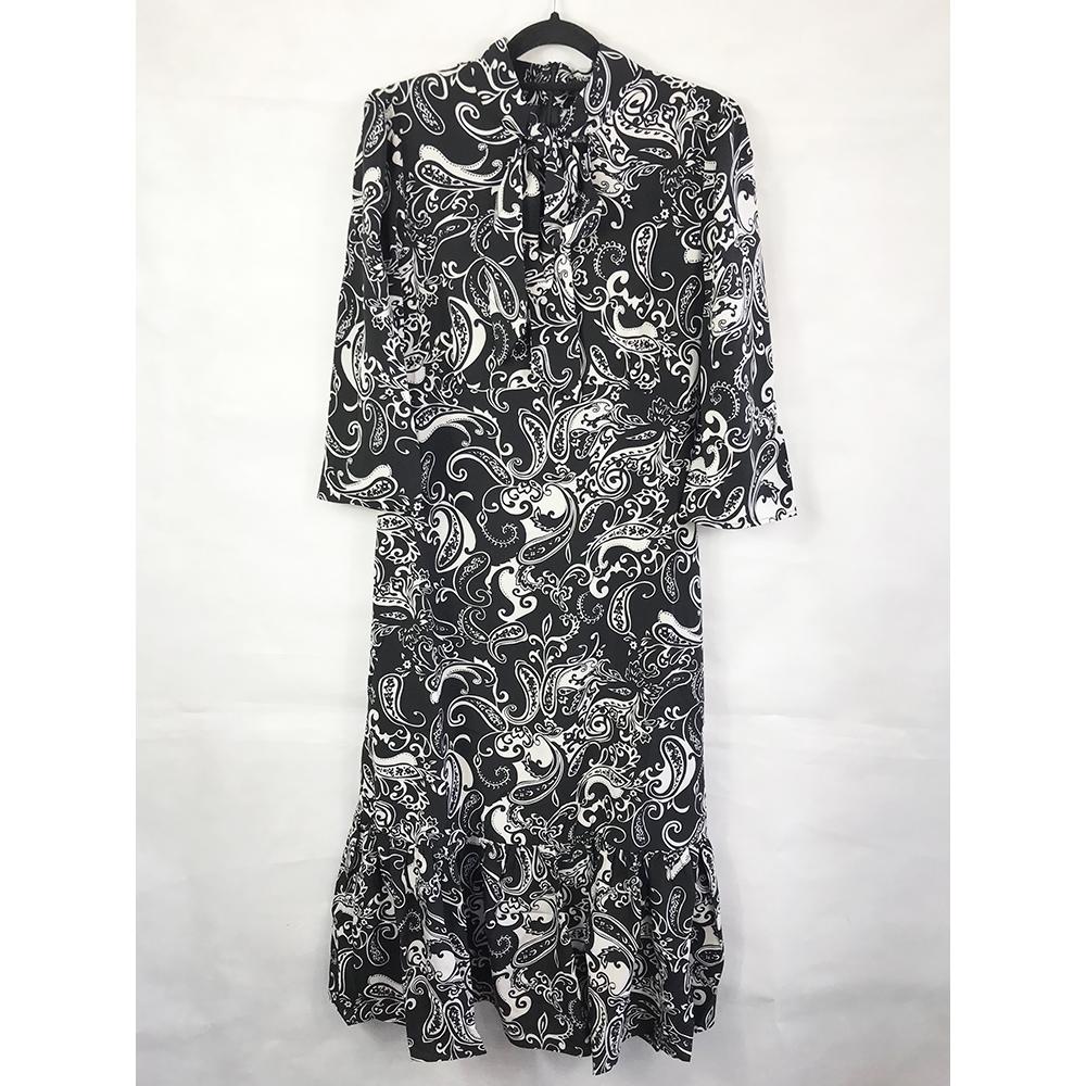 Paisley Pussybow Midi Dress