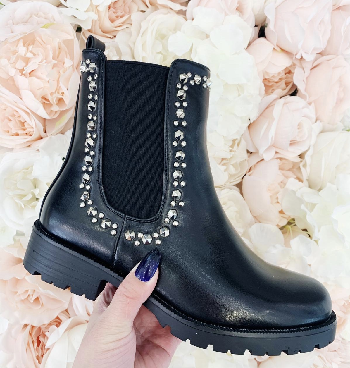Jewelled Edged Chelsea Boot